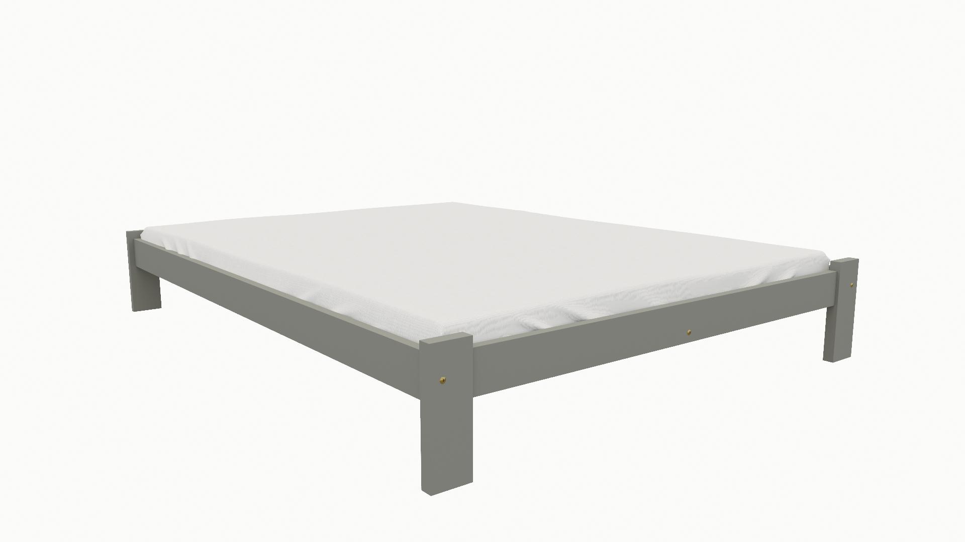 01cc8533c368 Dřevěná postel KV011 80x200 borovice masiv šedá empty